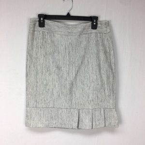 The Limited Heather Grey Tweed Pleat Pencil Skirt